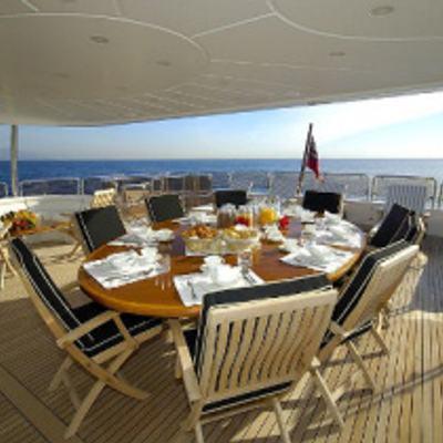Aura Yacht Aft Dining