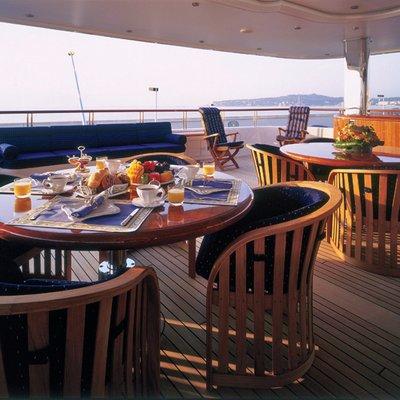Capri I Yacht Seating Area - Sunset