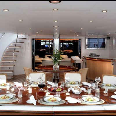 Parsifal III Yacht Aft Deck Dining