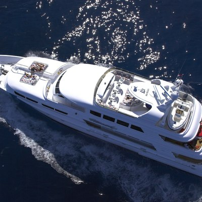 Nicole Evelyn Yacht Running Shot - Overhead