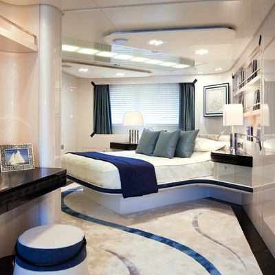Quite Essential Yacht Blue Guest Stateroom