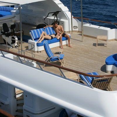 Lady Ellen II Yacht Aerial View - Seating