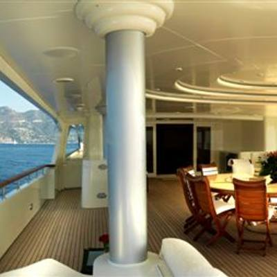 Tommy Yacht Upper Aft Deck - Side View
