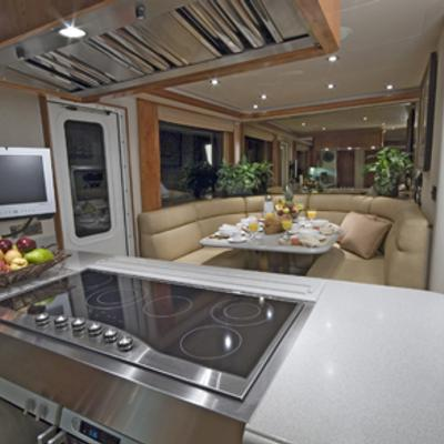 Serengeti Yacht Galley & Seating