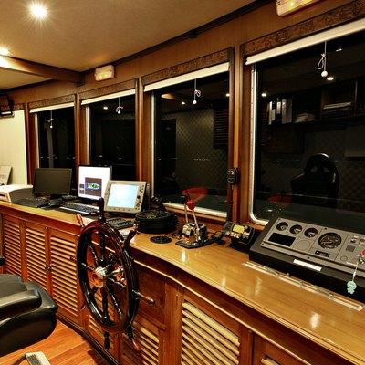 Dhaainkan'baa Yacht Pilothouse