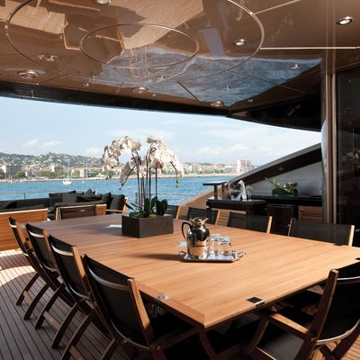 Griffin Yacht Aft Deck Dining