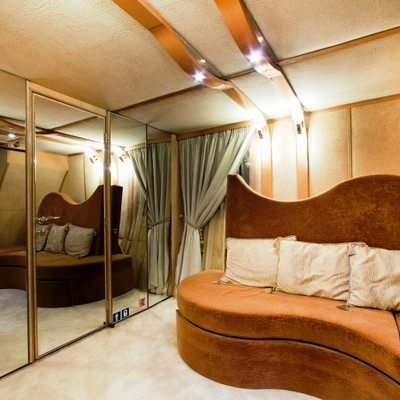 Vela Yacht Guest Convertible Sofa Aft Starboard