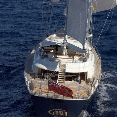 Luna Yacht Running Shot - Stern