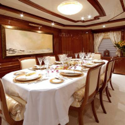 Aura Yacht Formal Dining