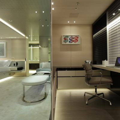 Nautilus Yacht Rendering Of The Private Office Attached To The Master Suite