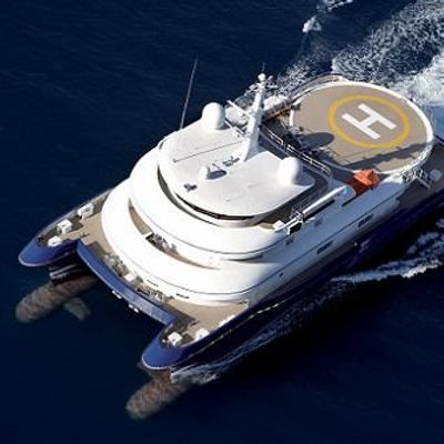 Silver Cloud Yacht Aerial Shot