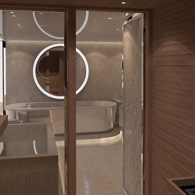 Nautilus Yacht A Rendering Of The Sauna and Spa Bath