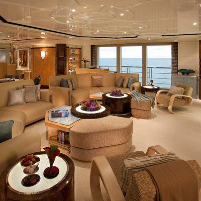 Sycara V Yacht Main Lounge - Cinema
