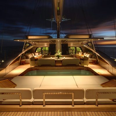 Vertigo Yacht Aft Deck - Evening