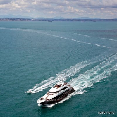 Liberty Yacht Running Shot - Aerial Front