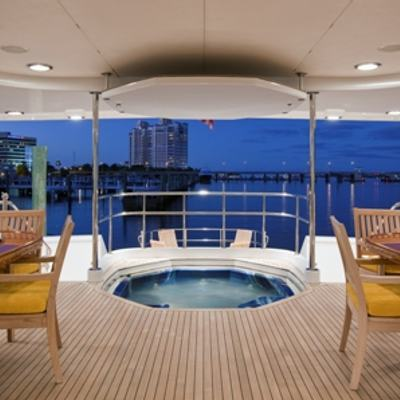 Sojourn Aft Deck Alfresco Dining and Jacuzzi