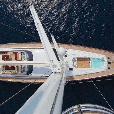 Prana Yacht Main deck from the mast