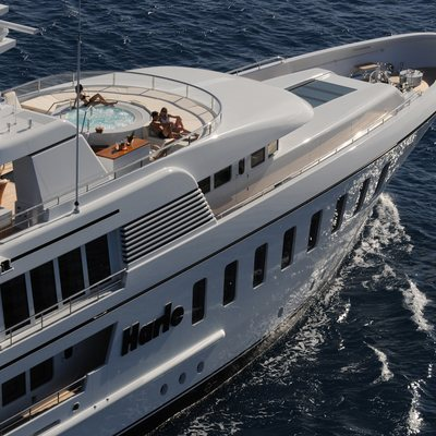 Harle Yacht Aerial View - Front