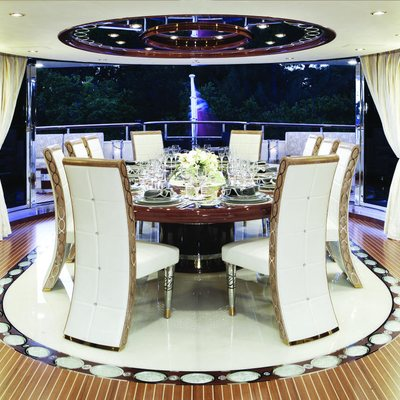 Diamonds Are Forever Yacht Upper Salon Dining