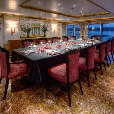 Pegasus VIII Yacht Dining Salon