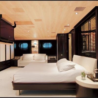 Parsifal III Yacht Stateroom - Side View