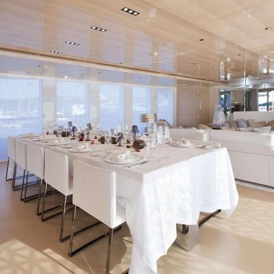 La Pellegrina I Yacht Dining Salon