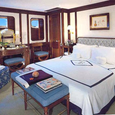 Virginian Yacht Blue Guest Stateroom