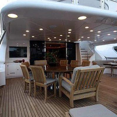African Queen Yacht Aft Deck