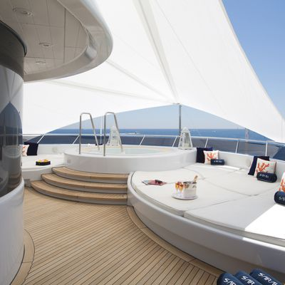 Sarah Yacht Jacuzzi with sun cover