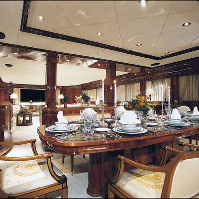 Jaan Yacht Dining Area