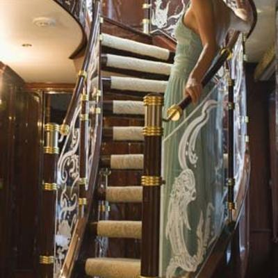 Ionian Princess Yacht Staircase Looking Up