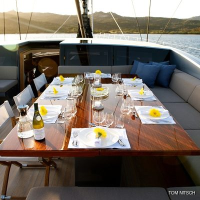 Sharlou Yacht On Deck Dining