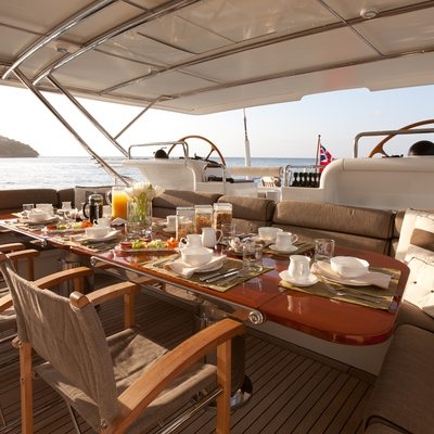 Genevieve Yacht Cockpit Dining