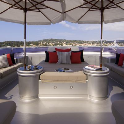 Silver Dream Yacht Sundeck - Umbrealls