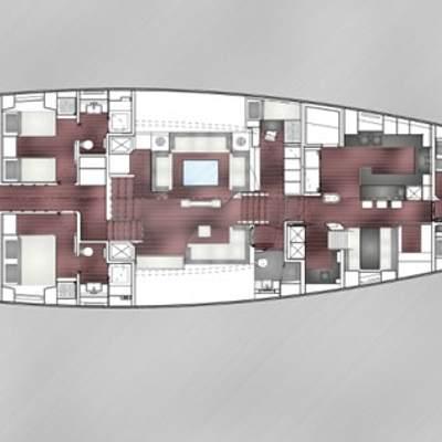 Bliss Yacht Deck Plans