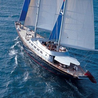 Andromeda la Dea Yacht Running Shot - Rear View