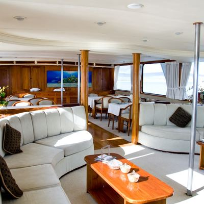 Integrity Yacht Main Salon - view looking starboard