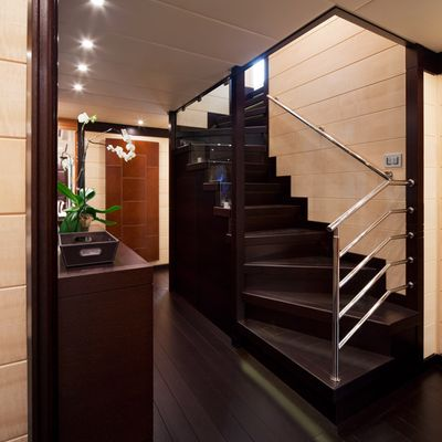 Lisa IV Yacht Main Staircase