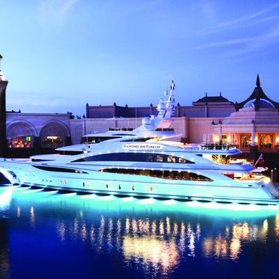 Diamonds Are Forever Yacht Under Water Lights
