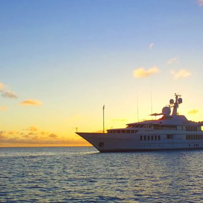Sea Huntress Yacht Sunset Profile