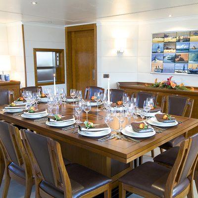 Hanse Explorer Yacht Dining Room