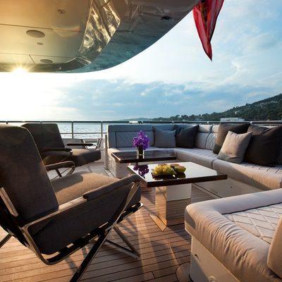 Aurelia Yacht Aft Deck - Evening
