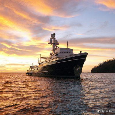 Seawolf Yacht Front View - Sunset