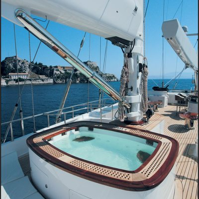 Parsifal III Yacht Jacuzzi Deck