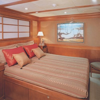 Lou Spirit Yacht Red Guest Stateroom
