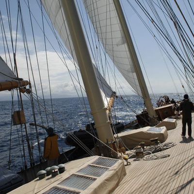 Atlantic Yacht View along Deck