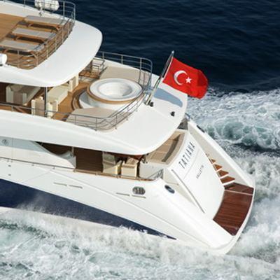 Tatiana Yacht Running Shot