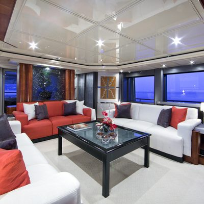 Silver Dream Yacht Main Salon - Side View