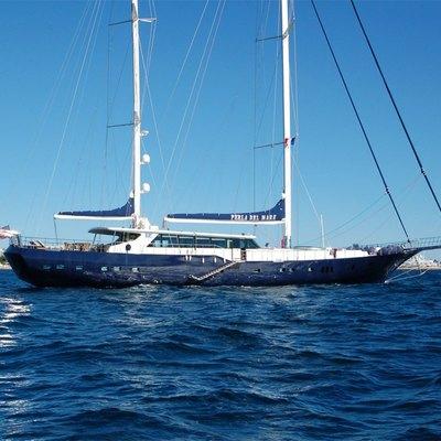 Perla del Mare Yacht Side View