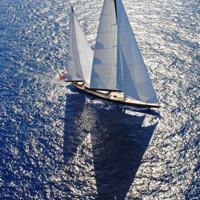 Marie Yacht Aerial View - Underway